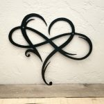 Infinity Symbol with Heart Metal Sign - Love Infinity Symbol with Heart - Wedding, Anniversary, Christmas Gift for Couple - Metal Wall Art