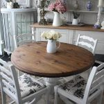 Informal Round Wooden Dining Table LIKE this table and the chair seats especiall...
