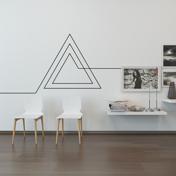 Items similar to Living Room Wall Decal: Endless Geometric Triangle on Etsy