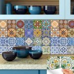 KITCHEN Bathroom decals Tile Sticker Set of 24 Tiles decal mixed Tiles for walls Kitchen home decoration Mexican tile HA4