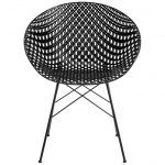 Kartell Smatrik Outdoor Chair in Black by Tokujin Yoshioka