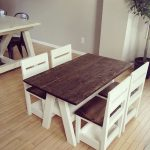 Kids table and storage chairs set. Custom built by Sawdust Stain.