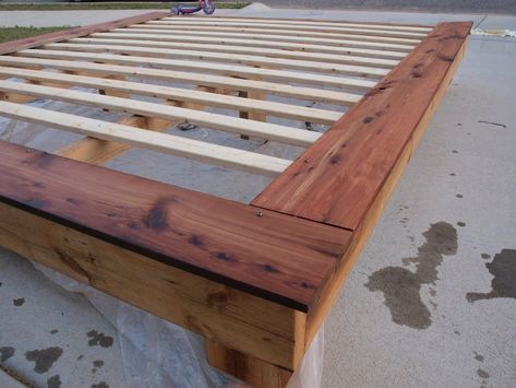 King Size Platform Frame   Do It Yourself Home Projects from Ana White