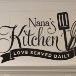 Kitchen Wall Decal Rustic Kitchen Wall Decor Nanas Kitchen Love Served Daily Kitchen Wall Quotes Vinyl Wall Decals