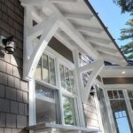 Lake Home craftsman exterior. Add architectural details and interest to the side...