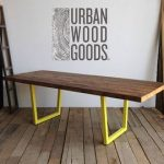 """Large conference table with steel pipe legs and 1.65"""" reclaimed wood top in your choice of color, size and finish"""