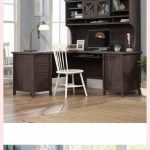 Laur L Foundry Modern Farmhouse L-Shape Computer Desk With Hutch ~ #farmhousedes...
