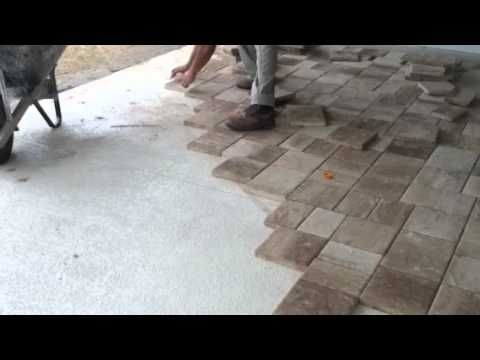 Laying Thin Pavers Over Concrete