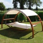 Leisure Season Patio Swing Bed with Canopy-SBWC402