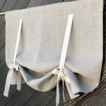 Linen #Curtains #Country #Kitchen #Tie #Up #Valance