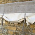 Linen Farmhouse Ruffled Curtains Cottage Ruffle Valance Simple Rustic  French Country Window Treatment Natural Flax Linen Kitchen Curtain