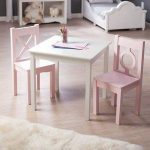 Lipper Hugs and Kisses Table and 2 Chair Set - White & Pink - Walmart.com