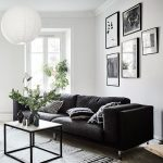 Living room in black, white and gray with nice Gallery wall. The Best of home interior in 2017. - Home Decor Ideas
