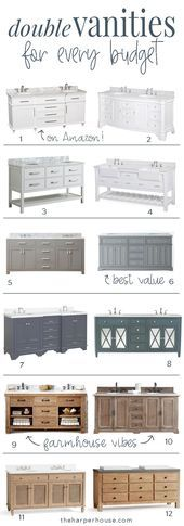 Looking for some great bathroom vanity ideas? This roundup of the best double va…
