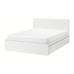 MALM High bed frame/4 storage boxes - white, Luröy - IKEA