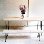Make your own modern wood and iron dining table with this how-to tutorial.