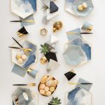 Malibu - Blue Watercolor Large Paper Plates design by Harlow & Grey