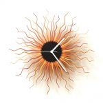 Medusa Copper - large sized contemporary wooden wall clock