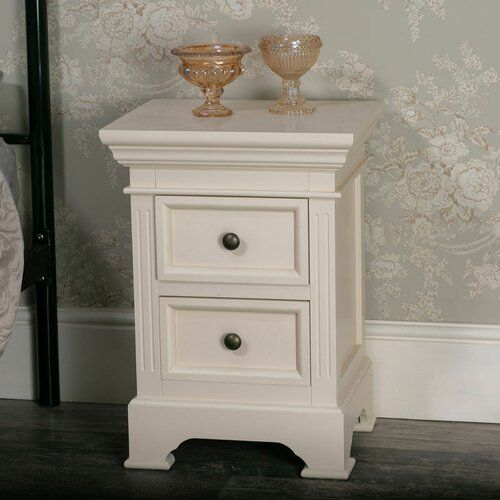 Melody Maison Daventry 2 Drawer Bedside Table | Wayfair.co.uk