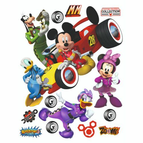 Mickey Mouse & Friends Mickey with Car Wall Sticker   Wayfair.co.uk