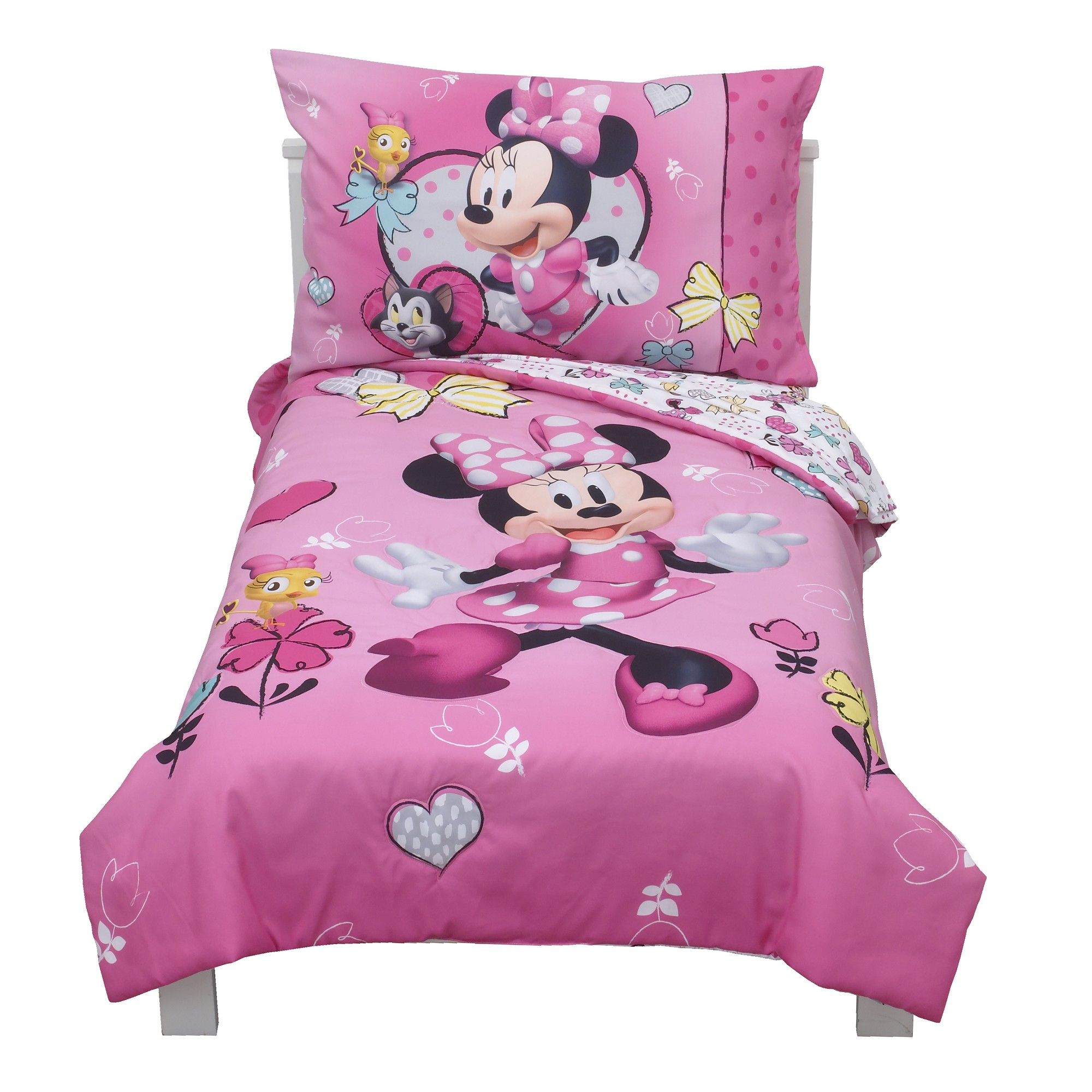 Mickey Mouse & Friends Minnie Mouse Toddler 4pc Bedding Sets, Pink