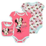 Minnie Mouse Made With Love 3 Piece Onesie Set | Free Shipping