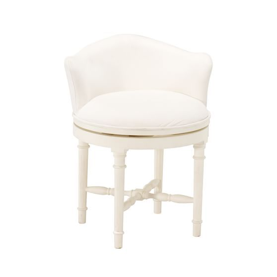 Minnie Vanity Stool SP13:Pool | Pottery Barn Teen