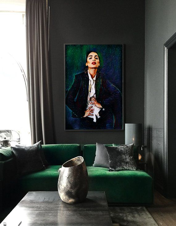 Modern Wall Art – Strike A Pose – 30″x44″ Framed Abstract Painting, Limited Edition.