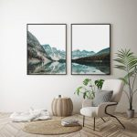 Mountain Lake Print,Modern Wall Art,Landscape Set Print,Mountain Set Print,Printable Wall Art,Nature Set Print,Landscape Wall Art,Wall Decor