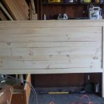 My first Project Reclaimed-Wood Look Headboard, King Size | Ana White