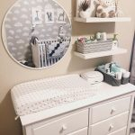 Neutral Baby Nursery - chest of drawers with changing table