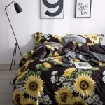 Online Shop Sunflower Bedding Set Luxury Bed Linen Set Luxury Quilt Cover Sheets