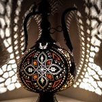 Oriental handcrafted Gift ideas Gourd lamps Ottoman Turkish Moroccan brass coating Pitcher Table Lamp assyrian furniture wedding anniversary