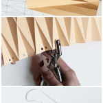 Origami-Inspired Paper Lampshade