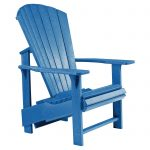Outdoor C.R. Plastic Generations Upright Adirondack Chair Turquoise