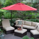 Outdoor Treasure Garden 10 ft. Obravia Cantilever Octagon Offset Patio Umbrella Obravia Chocolate
