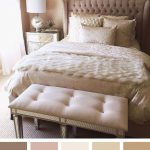 Perfect Nude Bedroom Color Scheme Ideas - Saved for headboard and bench @ foot o...