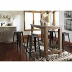 Pinnadel 5 Piece Bar Dining Set with Metal Stools Furniture near Tempe, AZ | Phoenix Furniture Outlet