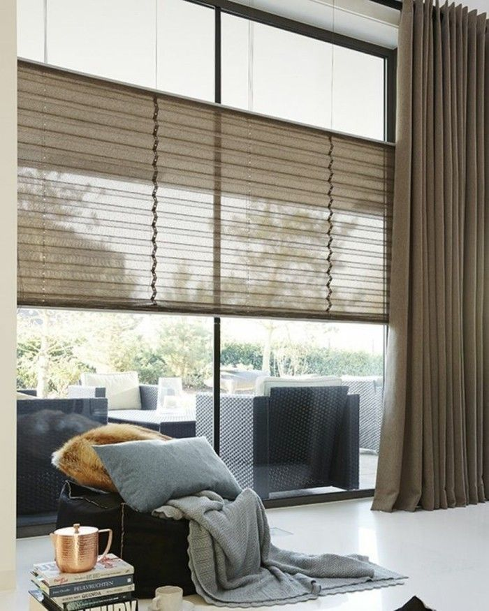 Plissees for window dimming and window decorations – 34 fresh ideas for windows …