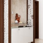 Puja Room Designs with Mesmerising Jaali Panels