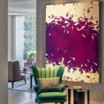 Purple painting | gold purple painting | gold leaf painting | gold painting | purple abstract | abstract | texture wall art | extra large