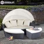 Rattan Daybed - 180cm (Range of Colours Available)