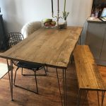 Reclaimed Dining Table With Black Hairpins,Choice Of Sizes+Colours