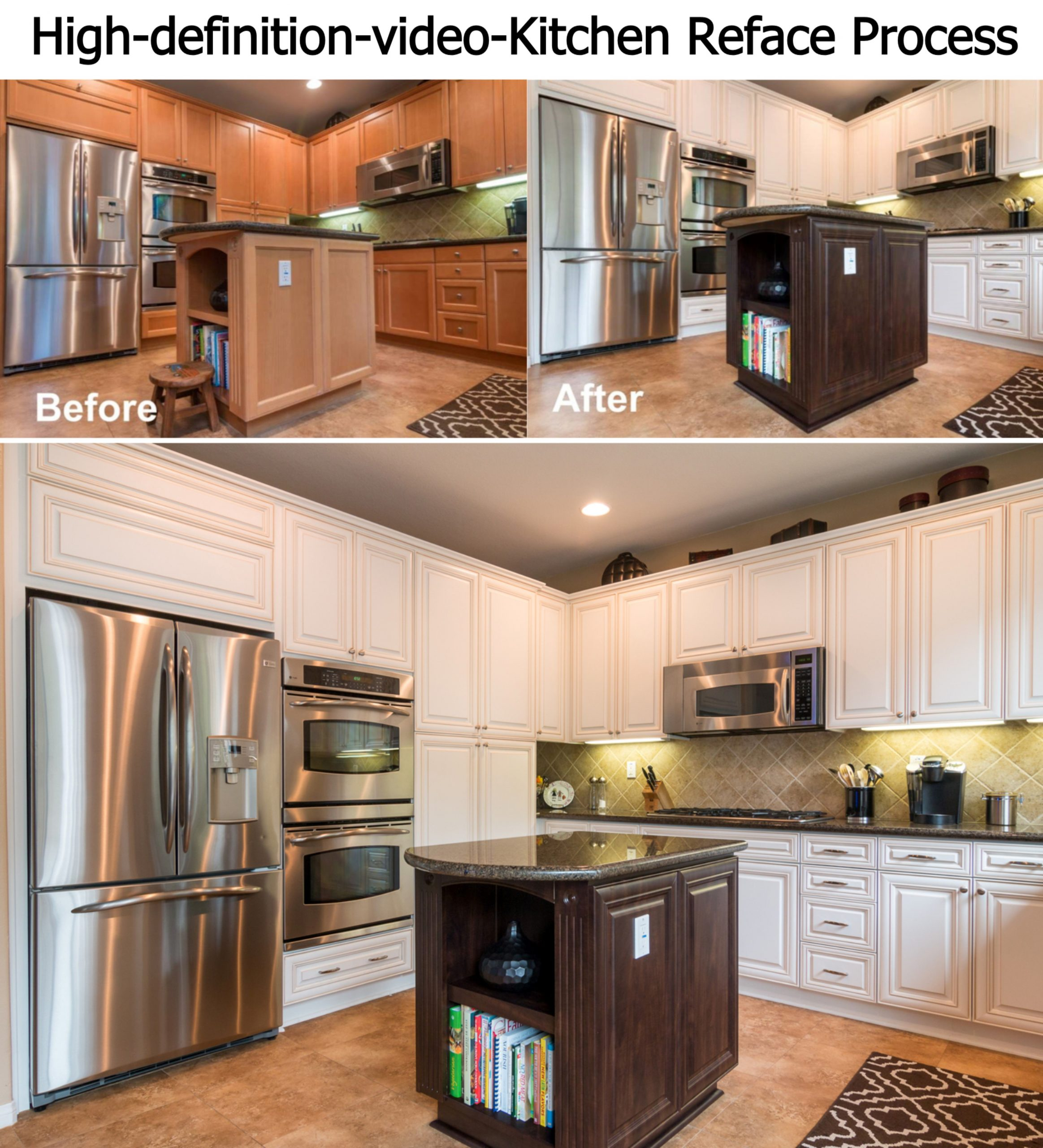 Reface Your Kitchen in as little as 3 days. Watch this amazing kitchen transform…