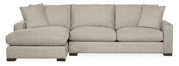 Room & Board –  Metro Sofa with Chaise – Modern Chaise Sofas – Modern Living Room Furniture