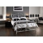 Rothesay King Size Curved Metal Bed Frame in White