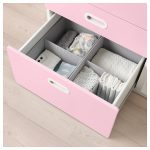 STUVA / FRITIDS Changing table with drawers - white, light pink - IKEA