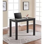 Shop Staples for Parsons Desk with Drawer, Black Oak