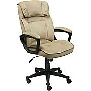 Shop Staples for Serta Fabric Computer and Desk Office Chair, Fixed Arms, Light Beige (43670)