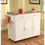 Shop Staples for TMS Extra Large Kitchen Cart With Stainless Steel Top, White